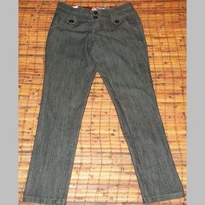 Juniors 9 varied blue trousers stylish EUC stretch